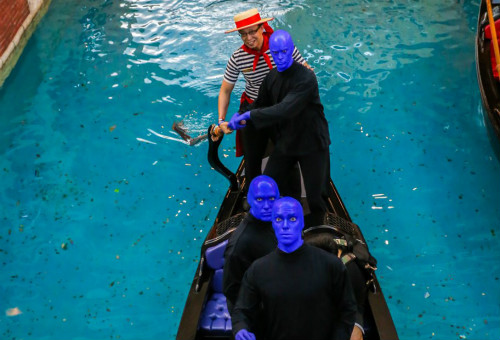 Blue in a boat