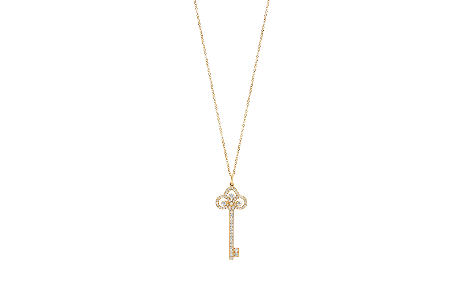 Tiffany Keys Fleur De Lis Key Pendant in Rose Gold