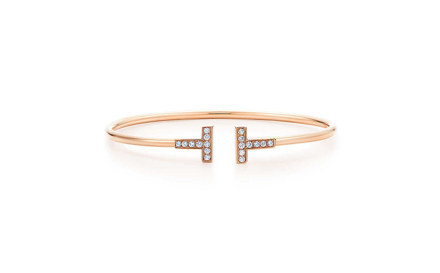 Tiffany T Wire Bracelet in Rose Gold