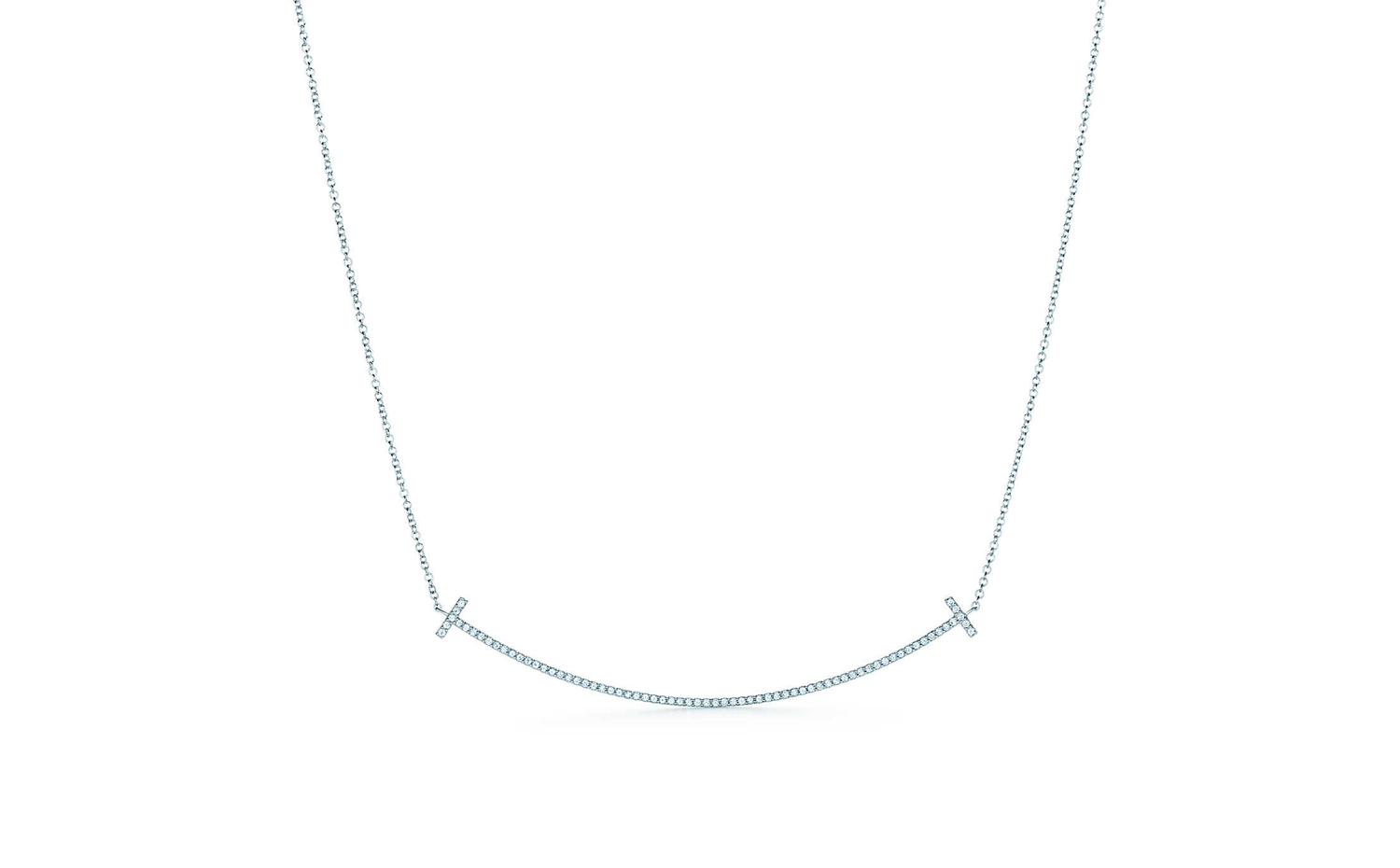 Tiffany T Smile Pendant in White Gold