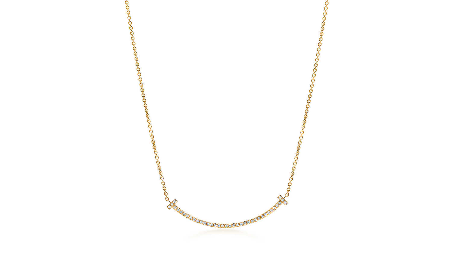 Tiffany T Smile Pendant in Gold - Mini
