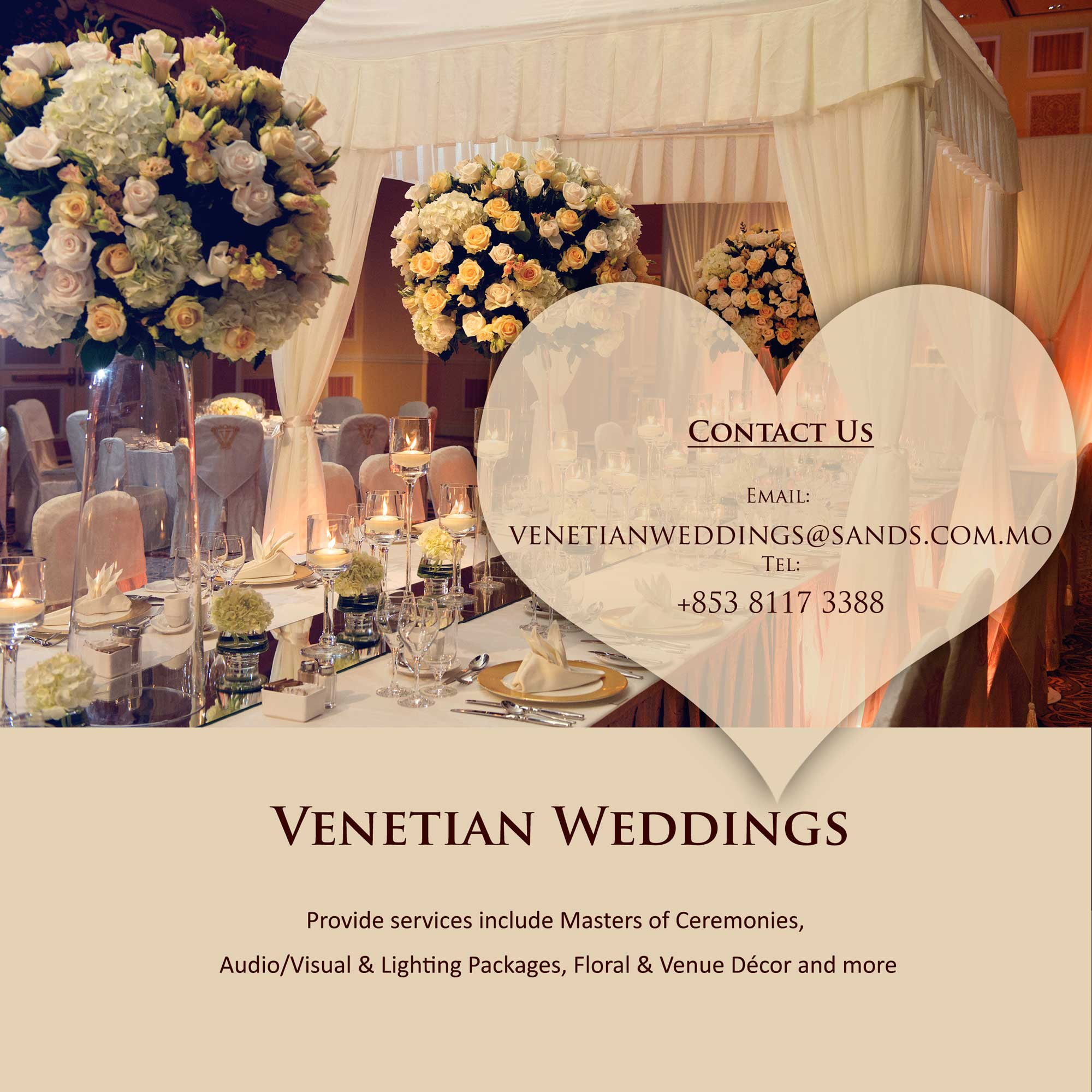 The Venetian Macao Weddings